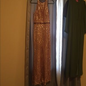 Rosegold Caché prom dress Size 12 Only worn once!